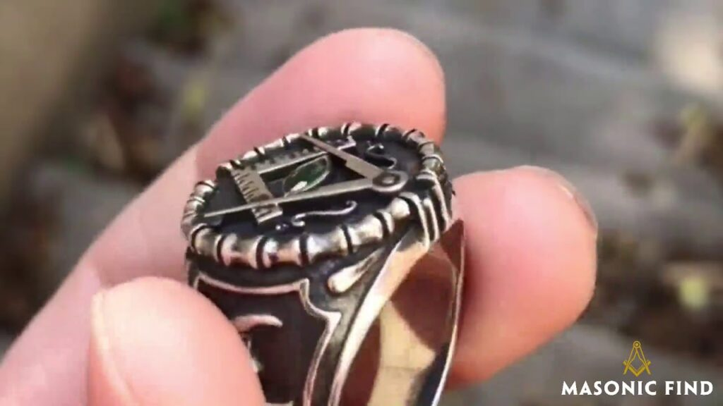 .925 Silver Vintage-Style Masonic Ring
