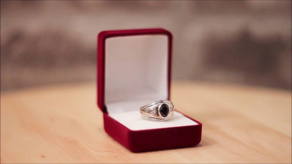 Custom Masonic Ring, silver – Black Onyx and Gemstones