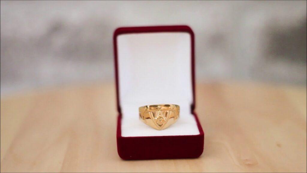 Gold Masonic Ring 3rd Degree Masonic Ring Blue Lodge Freemason Ring