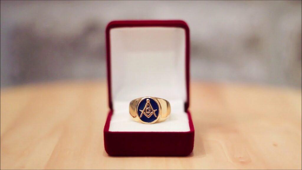 Gold Masonic Ring Blue Lodge 3rd Degree Blue Ring – Custom Masonic Ring