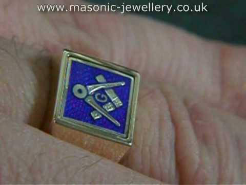 Gold Masonic ring – Reversible DAJ109