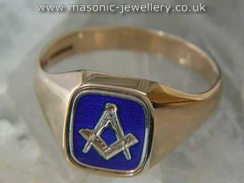 Gold Masonic ring – Reversible DAJ113