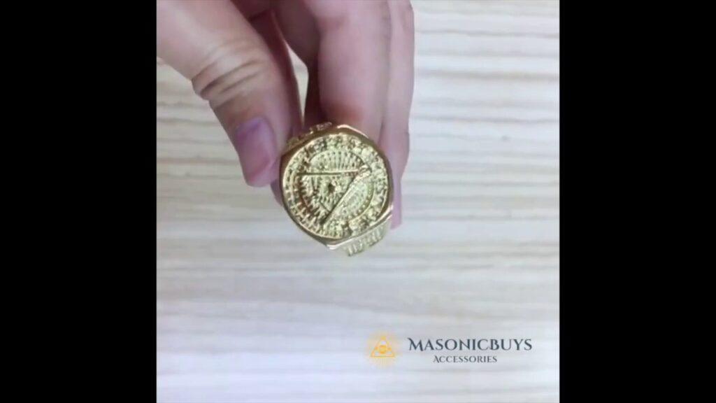 Gold Plated Past Master Masonic Ring – MasonicBuys.com