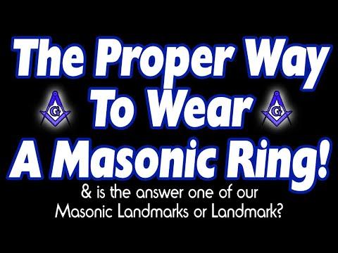 Is Wearing Your Masonic Ring A Certain Way A Masonic Landmark?