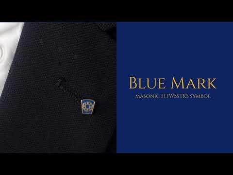 Masonic Blue Mark Lapel Pin