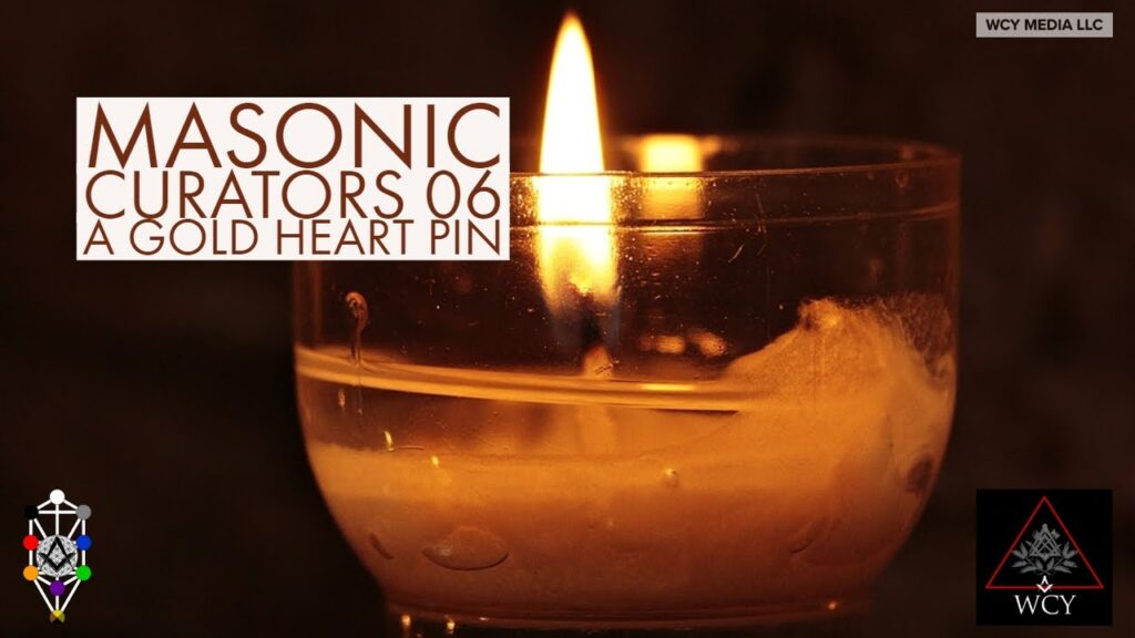 Masonic Curators – 006 – Gold Heart Lapel Pin
