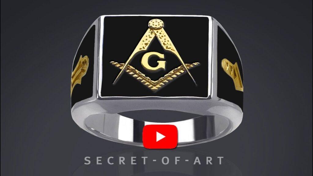 Masonic Ring Freemason jewelry gift Mason Masonry Lodge 925 Silver & GoldPlating