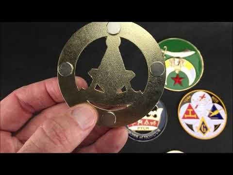 Masonic, Shrine, York Rite Auto Emblems. Macoy Publishing & Masonic Supply.