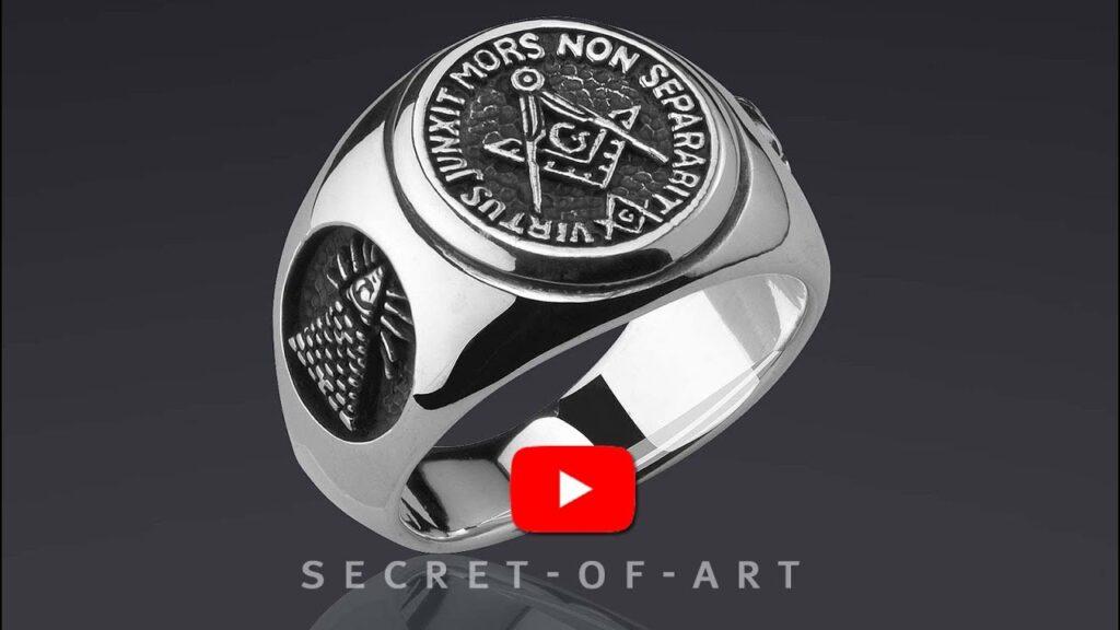 Mens Masonic Ring Silver 925 Freemason All seeing eye compss square Size 9-13 US