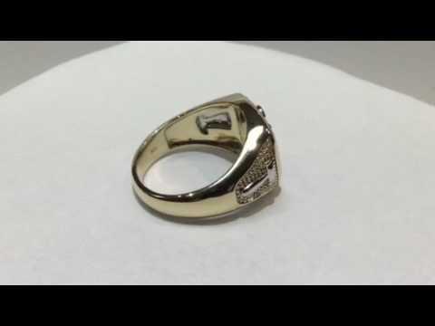Open back past master Masonic ring – Brock's Jewelers