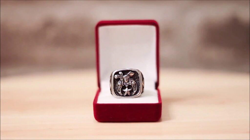 Silver Masonic Ring – Freemason Shriners ring, customizing options