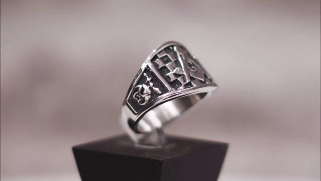 Silver Masonic Ring Shriners Ring – Custom Masonic Ring