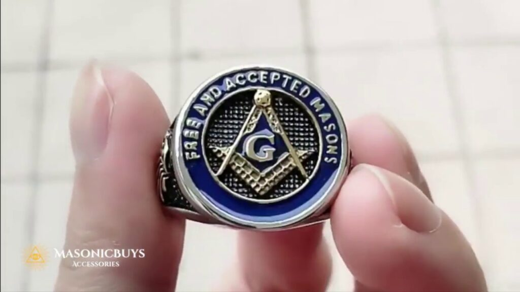 """Stainless Steel Masonic Ring """"Free And Accepted Masons"""""""