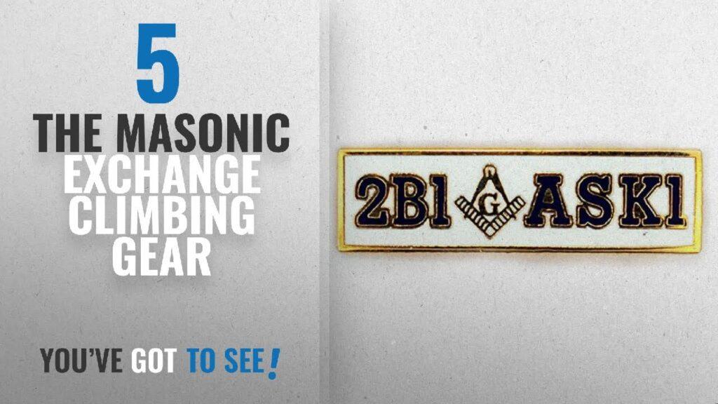 Top 10 The Masonic Exchange Climbing Gear [2018]: Masonic 2B1ASK1 Lapel Pin
